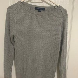 Tommy Hilfiger Grey Long-Sleeve Knitted Top